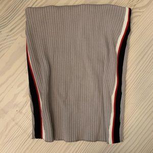 LF ribbed knit tube skirt